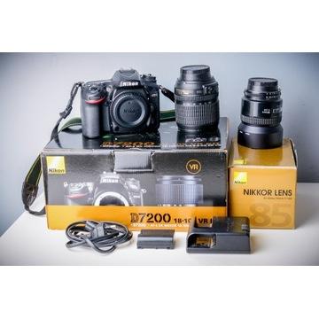Aparat Nikon D7200 Body - Przebieg tylko 38tys BDB