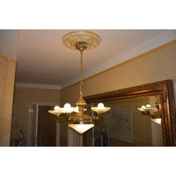 Lampa wisząca 5-ramienna, ANTYK