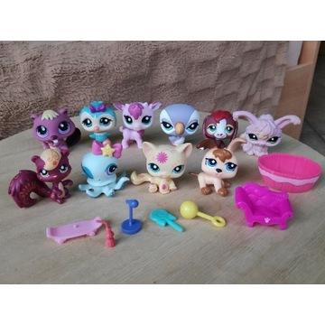 LPS Littlest Pet Shop zestaw 10 figurek + dodatki