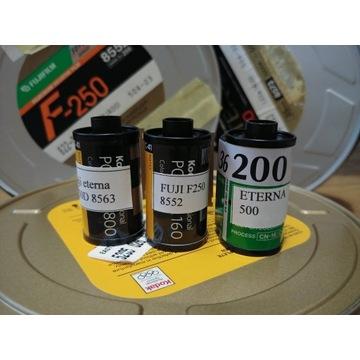 4x36, filmy kolor (cinestill), kodak, fujicolor
