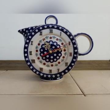 Zegar - ceramika Bolesławiec