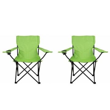 Krzesło campingowe/wędkarskie 2szt do 120 kg