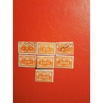 1920 r.  -  U2,U5,U6,U7,U10,U11 ,U13