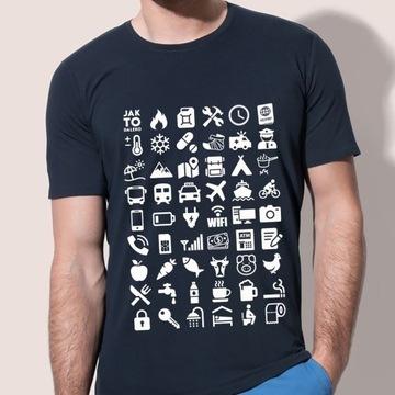 """Koszulka do komunikacji w podróży """"bez języka"""""""