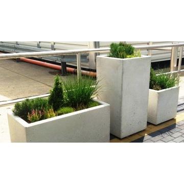Donica betonowa 40x40x80h (beton architektoniczny