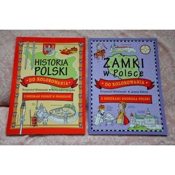 Historia Polski i Zamki w Polsce DO KOLOROWANIA