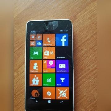 Microsoft Lumia 640 pekniety wyswietlacz.
