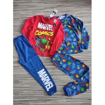 Piżama Marvel 2szt bluzka spodnie 122/128