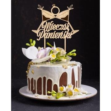 WIECZÓR PANIEŃSKI TOPPER DEKORACJA TOPER TORT