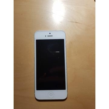 iPhone 5 16GB, biały + etui