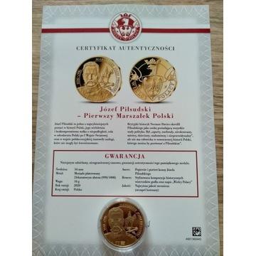 Moneta Platerowana złotem 24K