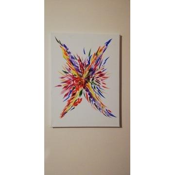 Obraz ścienny malowany na płótnie energia kolorów