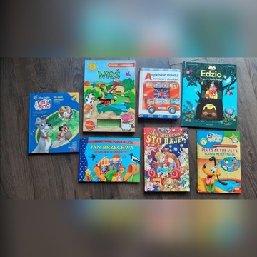 Zestaw 7 książek dla dzieci