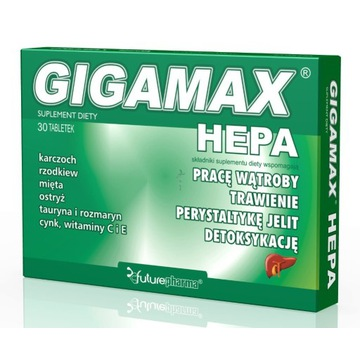 GIGAMAX HEPA tabletki 30 tabl, Zdrowa wątroba