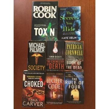 Zestaw 8 książek w oryginale