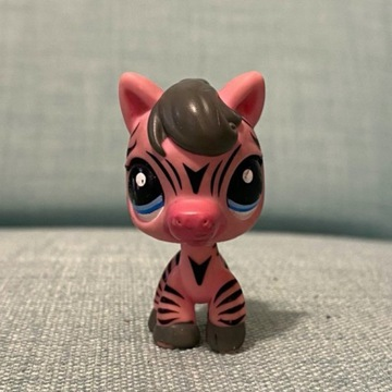 Littles Pet Shop - figurka, różowa zebra