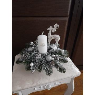 Stroik świąteczny bożonarodzeniowy dekoracja