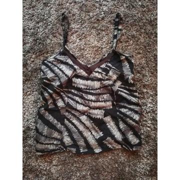 Donna Karan DKNY top zwierzęcy zebra bluzka 36 S