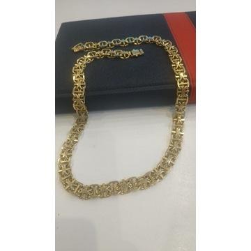 Złoty męski łańcuch 103 gramy.