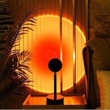 Lampa Projektor IMITACJA Zachodu SŁOŃCA TŁO zdjęć