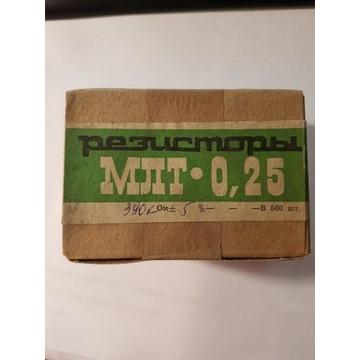 Rezystory produkcji ZSRR MPT 0,25W 500 sztuk
