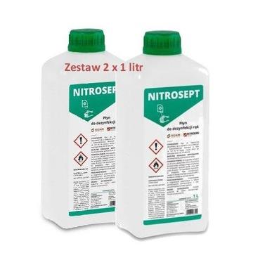 NITROSEPT 1L x 2 Płyn do dezynfekcji skóry