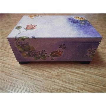 Drewniane pudełko na drobiazgi, prezent