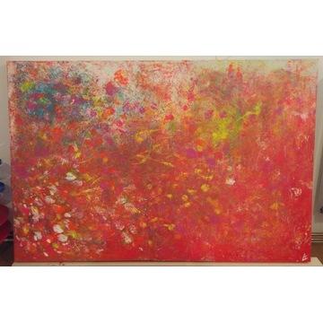 obraz abstrakt 120x80 akryl na płótnie