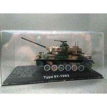 kolekcjonerski MODEL CZOŁGU Type 61 - 1993
