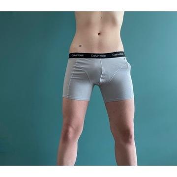 bokserki Calvin Klein noszone fetysz sperma gej