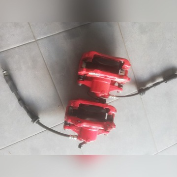 Komplet przód tarcze klocki zaciski FIAT 500 Abart