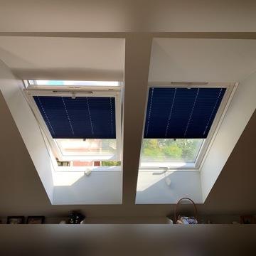 Rolety plisowane do okien dachowych- na wymiar.