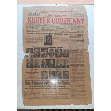Gazeta Kuryer Codzienny 1929r.  Orginał