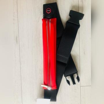 Pas do biegania ze światłem MO9114 czerwony