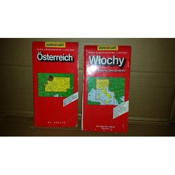 Stare Mapy Osterreich-Austria i Włochy