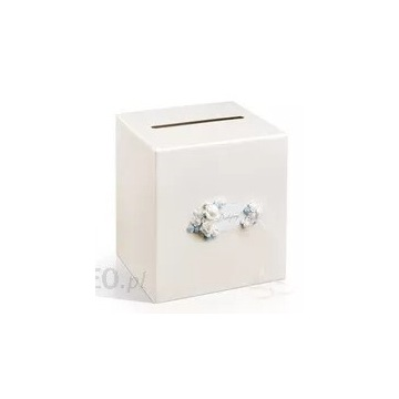 Pudełko na koperty weselne Białe Perłowe