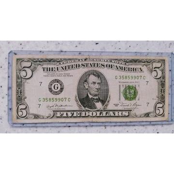 5  Dolarów USA 1981r G