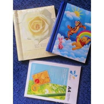 Zestaw: 2 albumy i papier foto A4