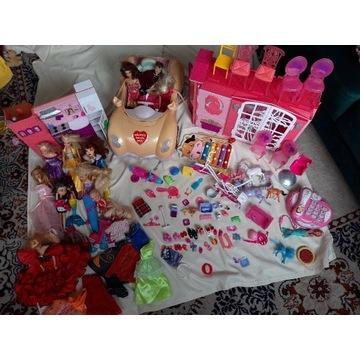 Duży zestaw Barbie domek auto Baby Born gratisy