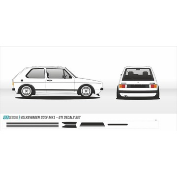 Naklejki VW Golf GTI mk1 - zestaw naklejek