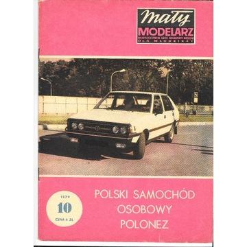 Mały Modelarz 10 1979 POLONEZ model 1:12 oryginał