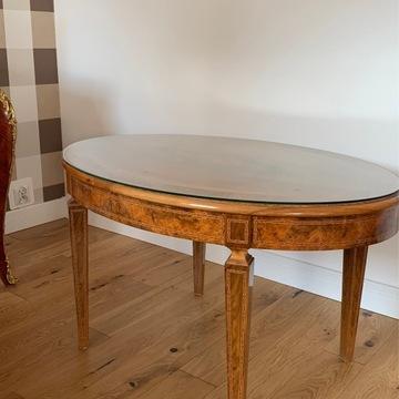 Intarsjowany stolik, poł. XX wieku.