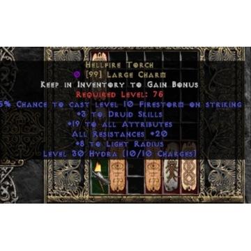 Druid Torch 18/18 - Diablo 2 LOD NOWY LADDER