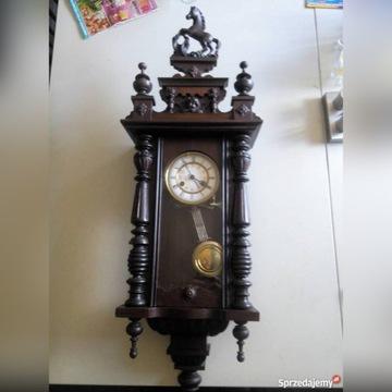 zegar drewniany przedwojenny antyk