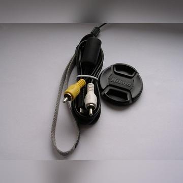 Nikon LC-52 dekielek 52mm + smycz + kabel A/V