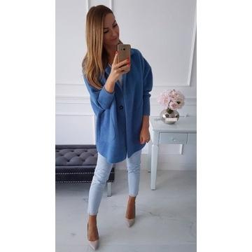 jeans  alpaka plaszcz rozmiar uniwersalny