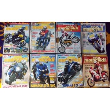 Czasopismo Świat Motocykli 8 sztuk 2006-2008-2009