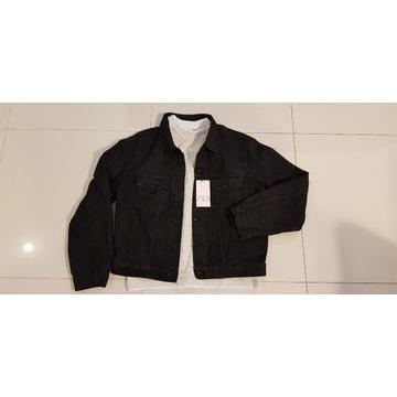 Jeansowa XL kurtka męska ZARA woskowana NOWA