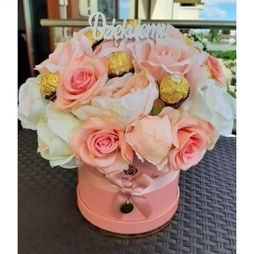Bukiet Flower Box FERRERO Prezent Dla Nauczyciela