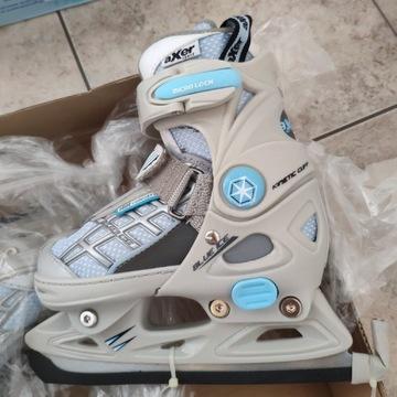Łyżwy figurowe regulowane Axer Blue Ice XS nowe